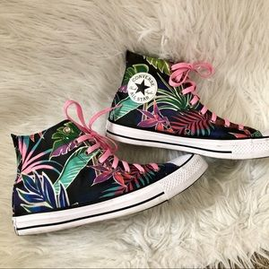 Converse tropical canvas high top shoes, 11